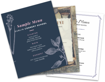 Sample event menus
